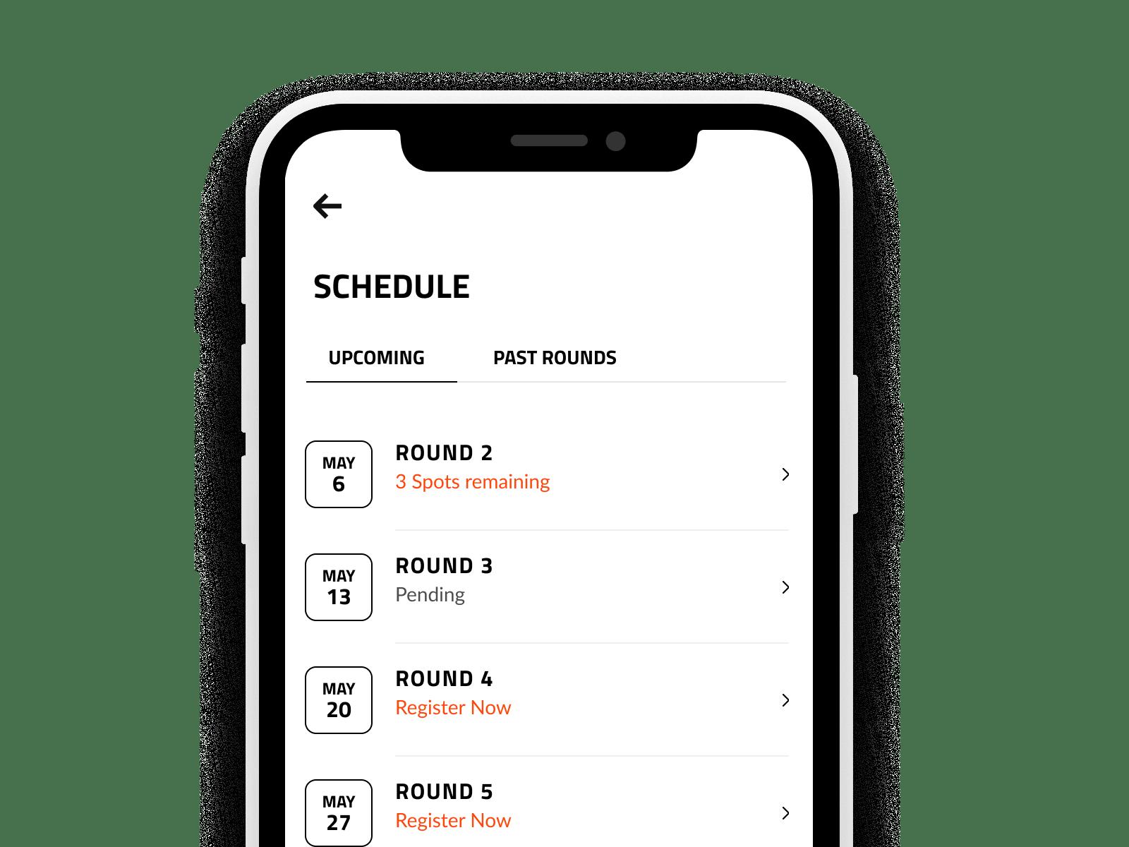 Spark Golf Leagues Schedule