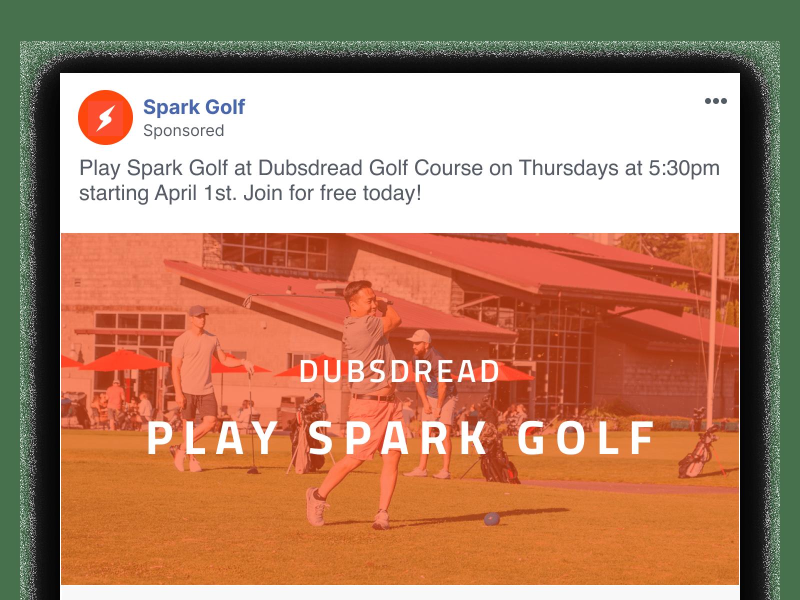 Join Spark Golf Leaagus